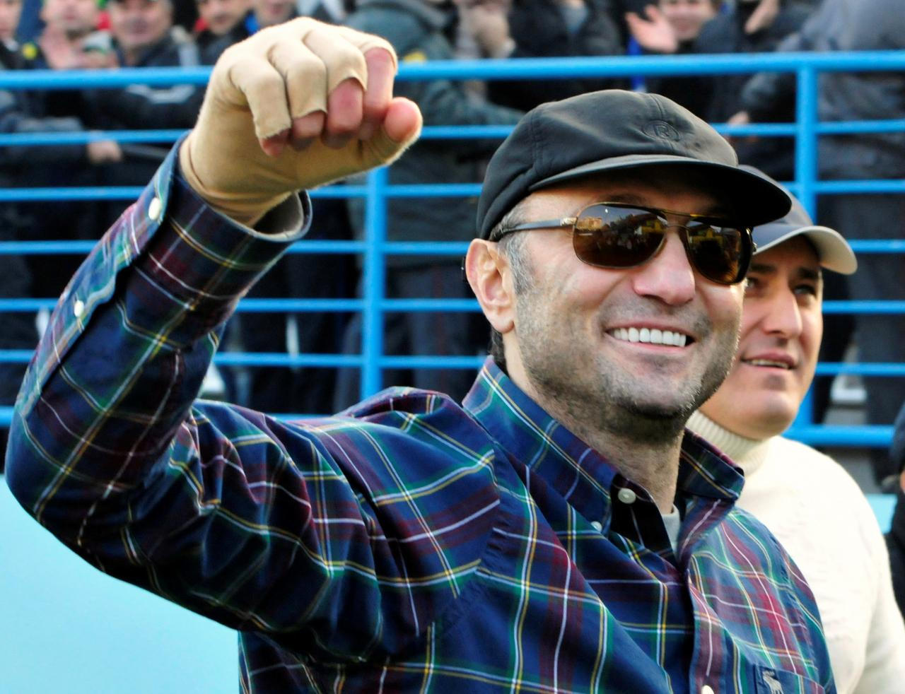 FILE PHOTO: Dagestani born tycoon Suleiman Kerimov watches a soccer match between Anzhi and CSKA in Makhachkala, Russia December 2, 2012. REUTERS/Sergei Rasulov/NewsTeam/File Photo