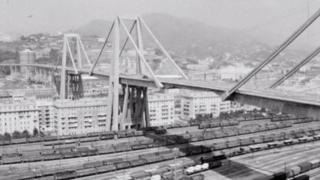 Morandi bridge when it opened in 1967