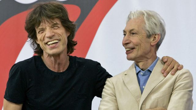 Sir Mick Jagger and Charlie Watts in 2005